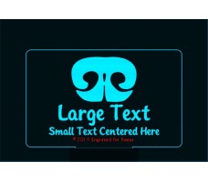 Nose Print Personalized Base Light Large Text over Small text