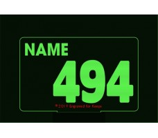 Race Number Personalized Base Light