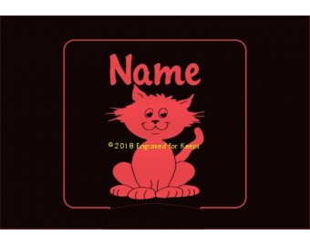 Whimsical Cat Personalized Night Light