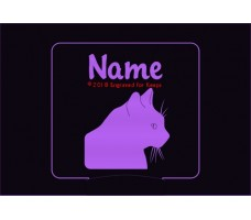 Cat Personalized Night Light