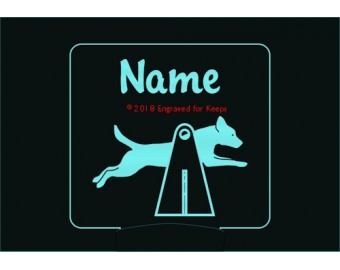Flyball Dog Hurdle Personalized Night Light
