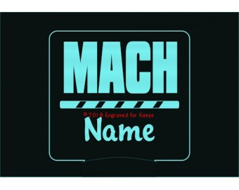 Agility MACH Title Personalized Night Light