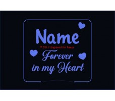 Forever in My Heart Personalized Memorial Night Light