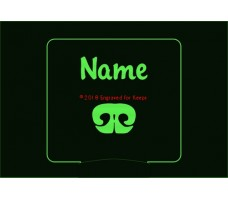Nose Work Personalized Night Light