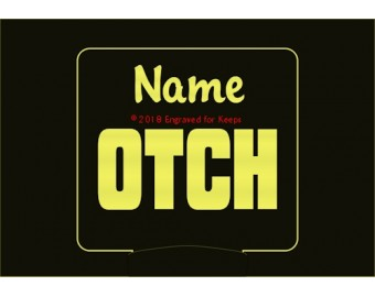 Obedience OTCH Title Personalized Night Light