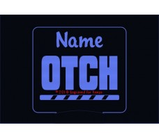 Obedience OTCH Bar Title Personalized Night Light