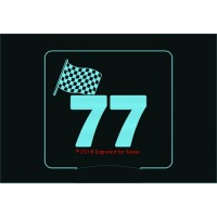 Checkered Flag Race Number Night Light