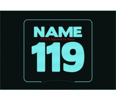 Race Number Personalized Night Light