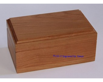 "Keepsake Box 3.25"" x 5.5"" Whole Lid Engraving"