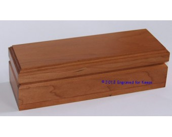 "Keepsake Box 3"" x 8.5"" Whole Lid Engraving"