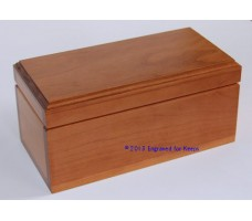"Keepsake Box 4"" x 8"" Top Center Engraving"