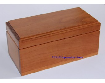 "Keepsake Box 4"" x 8"" Whole Top & Front Engraving"
