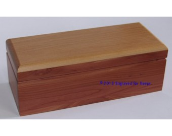 "Keepsake Box 4"" x 9.25"" Top Center Engraving"