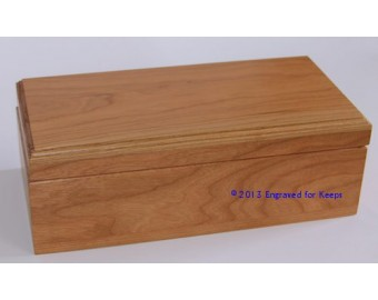 "Keepsake Box 5"" x 10"" Whole Top & Front Engraving"