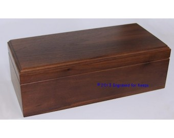 "Keepsake Box 5.5"" x 12"" Whole Top & Front Engraving"