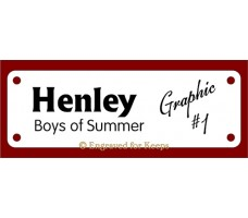 Dog Crate Tag with Name and Titles and graphic on Right Side 4-holes