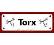 Dog Crate Tag with Name Only and graphics on Left and Right Sides 4-holes