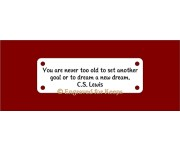 Crate Tag Multi-Line Text Small 4-holes