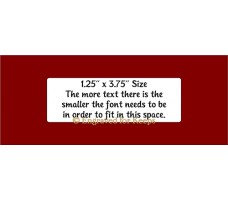 "1.25"" x 3.75"" Soft Crate Tag Multi-Line Text"