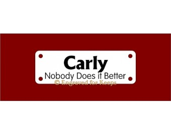 Crate Tag Name over Titles Small 4-holes