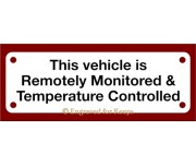 Remotely Monitored Temperature Controlled Crate Sign