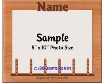 Agility Weave Poles Personalized Custom Cut Picture Frame