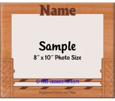 Agility Basket Weave Jump Personalized Custom Cut Picture Frame