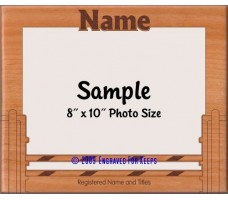 Agility Picket Fence Jump Personalized Custom Cut Picture Frame