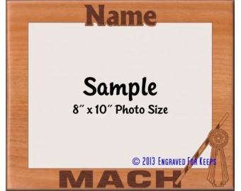 Agility MACH Award Personalized Custom Cut Picture Frame