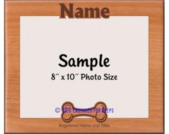 Dog Bone Personalized Custom Cut Picture Frame