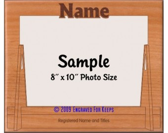 Flyball Jump Personalized Custom Cut Picture Frame