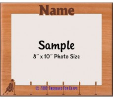 Horse Pole Bending Personalized Custom Cut Picture Frame