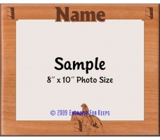 Horse Barrel Racing Personalized Custom Cut Picture Frame