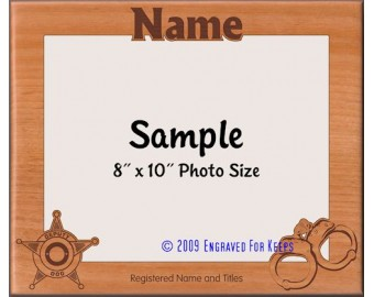 Police Dog K9 Personalized Custom Cut Picture Frame