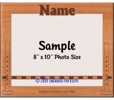 Obedience Bar Jump Personalized Custom Cut Picture Frame