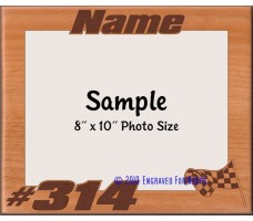 Custom Cut Racing Personalized Picture Frame