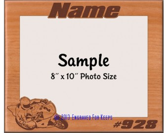Custom Cut Road Racing Personalized Picture Frame