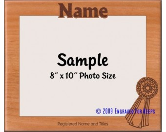 Ribbon Award Personalized Custom Cut Picture Frame