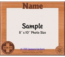 Search and Rescue Personalized Custom Cut Picture Frame