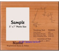 Tracking Map Personalized Custom Cut Picture Frame