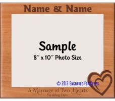 Wedding Two Hearts Personalized Picture Frame