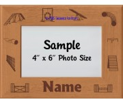 Agility Dog Personalized Picture Frame