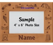 Agility Paw Prints Big Personalized Picture Frame