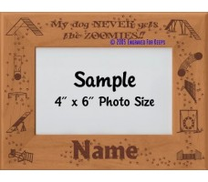 Agility Zoomies Personalized Picture Frame