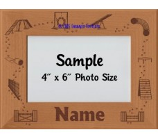 Agility Paw Prints Personalized Picture Frame