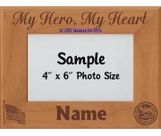 Army My Hero My Heart Personalized Picture Frame
