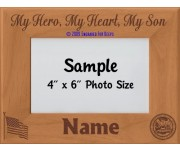 Army My Hero My Heart My Son Personalized Picture Frame