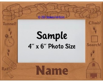 Barn Hunt Personalized Picture Frame