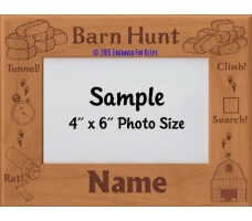 Barn Hunt Title Personalized Picture Frame
