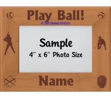 Baseball Play Ball Personalized Picture Frame